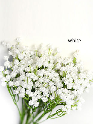 Picture of Simulation Flower Bouquet European-style Vivid Colored Artificial Babysbreath Display -Size: One Size