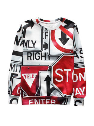 Picture of Fabulous Print Fashion O Neck Men's Sweatshirt - Size: L