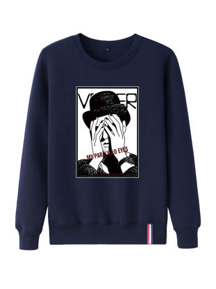 Picture of Men's Sweatshirt Stylish Long Sleeve O Neck Mens Clothing - Size: XXL