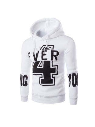 Picture of Men's Hoodie Long Sleeve Hooded Number Print Cozy Pullover - M