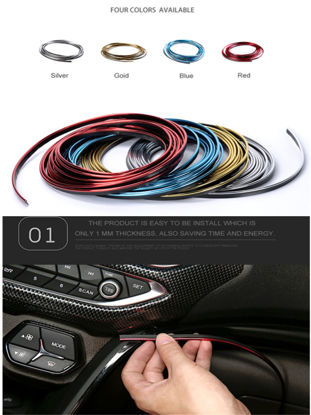 Picture of Car Bumper Strip Car Door Dashboard Air Outlet Interior Decoration  Line Strips