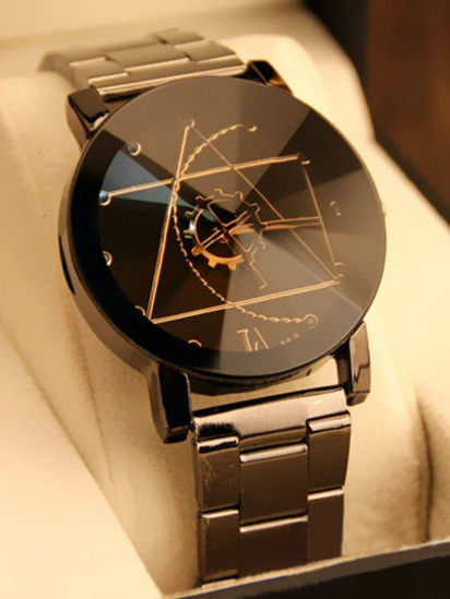 Picture of Men's Fashion Watch Geometric Pattern Gear Design Stylish Watch - One Size