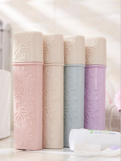 Picture of 1Pc Toothbrush Holder Portable Chic Travel Toothbrush Storage Box