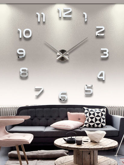 Picture of 1 Pc Wall Clock Modern Simple Style Decorative Wall Mounted Clock - One Size