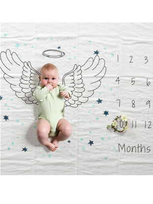 Picture of 1Pc Baby's Photo Blanket Cartoon Cute Wings Pattern Photo Prop - One Size