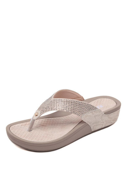 Picture of Women's Flip-Flops Slippers Rhinestone Comfy Soles Beach Shoes - 42