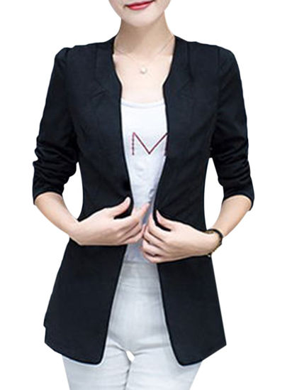 Picture of Women's Blazer Single Breasted Pocket Slim Coat - S
