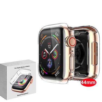 Picture of TPU Case Screen Protector 44mm All Around Protective High Definition Clear Cover For Apple Watch Series 4
