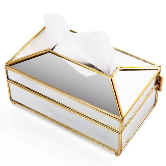 Picture of Tissue Storage Boxes European Style Large Capacity Lightweight Durable Storage Box - One Size