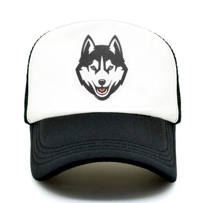 Picture of Men's Hat Wolf Pattern Patchwork Baseball Cap - One Size