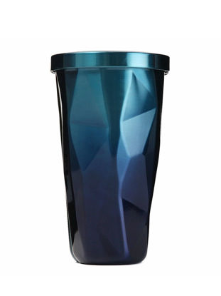 Picture of 1 Pc Fashion Vacuum Cup Modern Style Gradient Color Design Portable Coffee Cup With Sucker - Size: 500ml