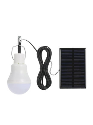 صورة Solar Powered Energy LED Light Bulb With Solar Panel Hanging Design IP44 Water Resistance Portable Outdoor Light - Size: Type:With Lanyard