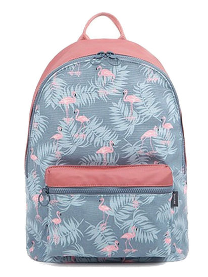 Picture of Kid's School Bag Flamingo Pattern Waterproof Casual Backpack - Size: One Size