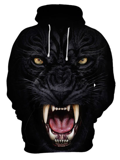 صورة Men's Hoodie 3D Animal Pattern Good Quality Personality Breathable Hoodie - Size: XL