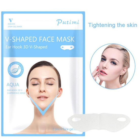 Picture of V-Shape Thin Face Mask Slimming Lifting Firming Fat Burn Chin V-line Women Wrinkle V Face Chin Cheek Lift