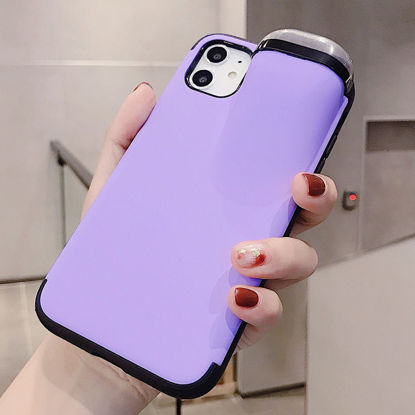Picture of iPhone X Phone Cover Candy Color Multi-Functional Earphones Case - Size: IPhone X