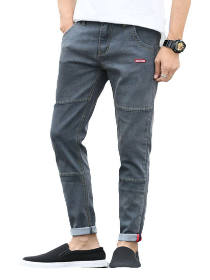 Picture of Men's Jeans Extended Cozy Style Casual Denim Pants - 32