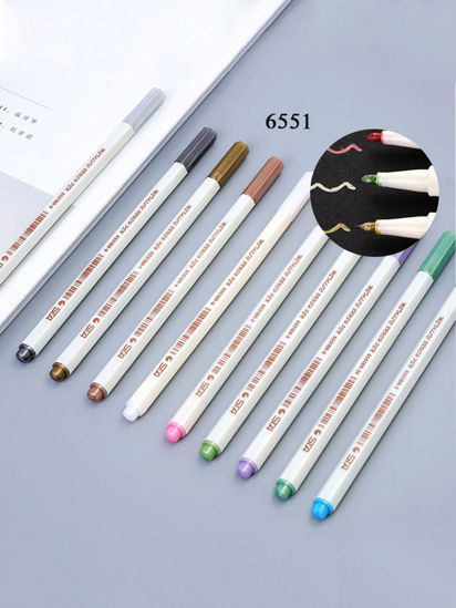 Picture of 10 Pcs Creative Stationery Colorful Utility Multi-Functional Water-Soluble Marker Pens