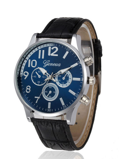 Picture of Men's Quartz Watch Fashion Business Style Casual Watch Accessory - One Size