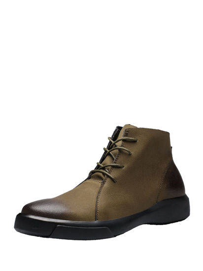 Picture of Men's Martin Boots Retro Style Comfy All Match Shoes - 45