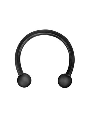 Picture of 1PC Men's Earring Fashion Captive Bead U-shaped Surgical Steel Horseshoe Barbell Nose Septum Hoop Earring - 10