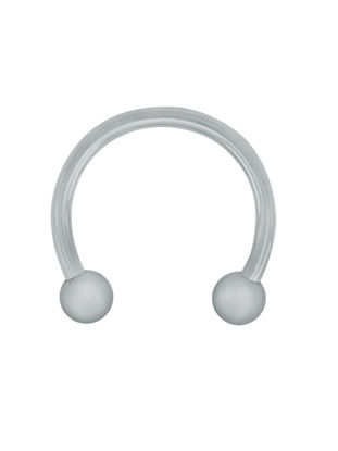 Picture of 1PC Men's Earring Fashion Captive Bead U-shaped Surgical Steel Horseshoe Barbell Nose Septum Hoop Earring - 12