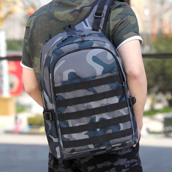 Picture of Men's Backpack Camouflage Large Capacity USB Charge Fashion Bag - One Size
