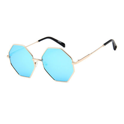 صورة Men's Sunglasses Fashion UV Protection Polygonal Frame Eyewear - One Size