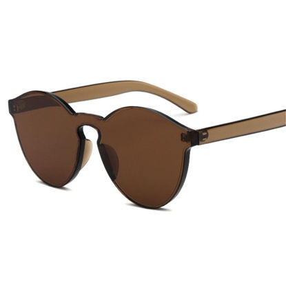 صورة Men's Sunglasses Rimless Trendy Glasses Accessory - One Size