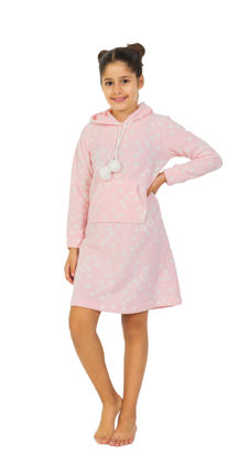 Picture of ENKI GIRLS POLAR LIGHT PINK PAJAMA SET
