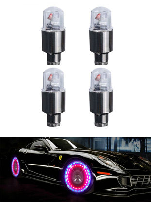 Picture of Aumret 4 Pcs Car Lights Colorful Functional Car Wheel Light