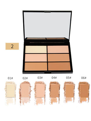 Picture of Magical Halo 6 Colors Contour Palette Smooth Perfect 3D Face Makeup Tray