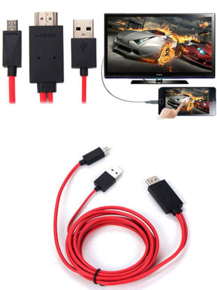 Picture of Conversion Cable USB To HDMI HD Video Cable Phone To TV Adapter Cable