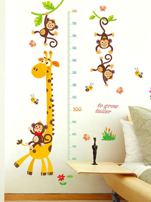 Picture of Kid's Room Wall Sticker Cartoon Lovely Giraffe Pattern Removable Decal - 60*90(W*L)cm