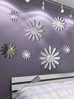 Picture of Wall Stickers Flower Pattern Removable Waterproof Wall Decoration - One Size