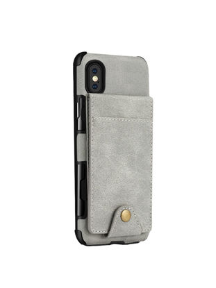 Picture of iPhone X/8/8 Plus/7/7 Plus/6/6S/6 Plus/Samsung S9/S9 Plus/S8 Phone Cover Linen Grain Phone Case With Card Slots - IPhone X