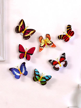Picture of 10Pcs LED Night Light Cartoon Colorful Butterfly Design Adhesive Lights - One Size
