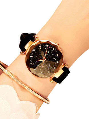 Picture of Women's Fashion Watch Starry Star Dial PU Strap All Match Watch Accessory - One Size