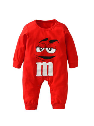 Picture of Baby Baby's Rompers Solid Color Cute Cartoon Pattern Long Sleeve Comfy Jumpsuit - 60cm