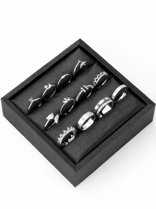 Picture of 12 Pcs Women's Fashion Ring Set Retro Personality Design All Match Accessories - 7