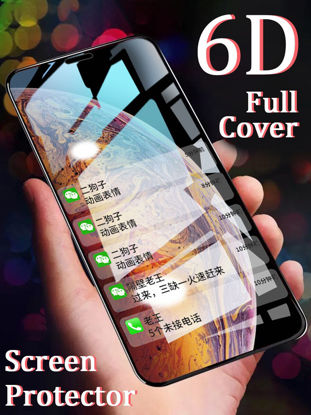 Picture of 9H Curved 6D Screen Film Round Edge Tempered Glass Screen Protector For iPhone XS/XS Max/XR/X/8/8 Plus/7/7 Plus - iPhone XS