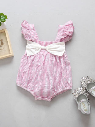 Picture of Baby Baby's Romper Bow Decoration Adorable Sweet Romper - 90cm