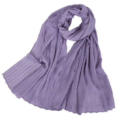 Picture of Women's Hijab Soft Solid Color High Quality Scarf Accessory - Free