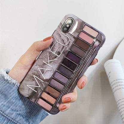 Picture of iPhone XS/XS Max/XR/X/8/8 Plus/7/7 Plus/6/6S/6 Plus/6S Plus Phone Cover Makeup Eyeshadow Palette Pattern Phone Case - IPHONE 7Plus