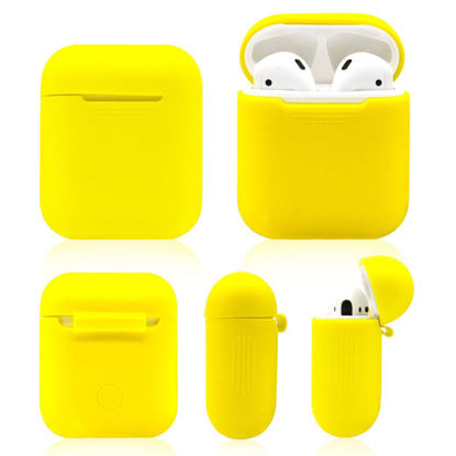 Picture of TPU Silicone Case Cover For Apple Airpods 1 2 Earphone Cover