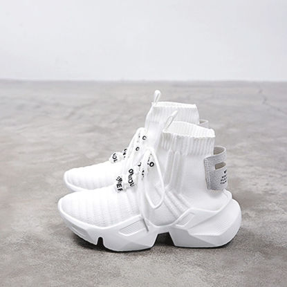 Picture of Women's Sports Shoes Round Toe Anti-skidding Lacing Shoes - 41