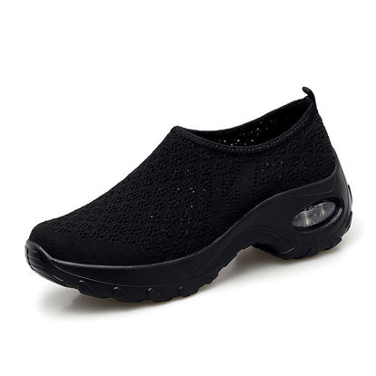 Picture of Zaitun Women's Dancing Shoes Solid Color Breathable Slip-on Shoes - 38