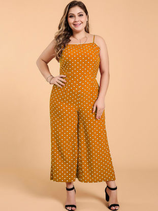 Picture of Women's Plus Size Polka Dot Jumpsuits - XXL