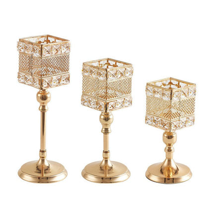Picture of One Piece Candle Holder European Style Hollow Out Beautiful Candle Holder Display - M