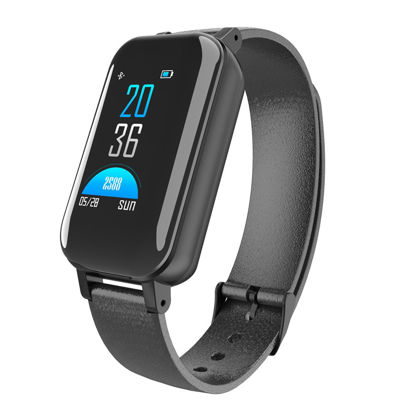 Picture of T89 Color Screen Smart Bracelet Headset Heart Rate Blood Pressure Monitoring WristbandTwo-Ear Bluetooth 5.0
